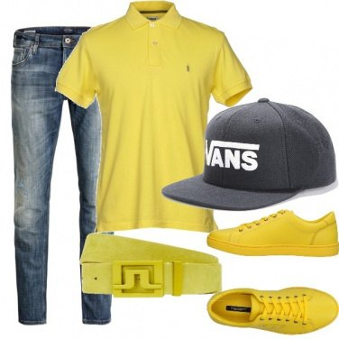 Outfit Uomo in giallo
