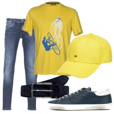 Outfit Jeans e giallo
