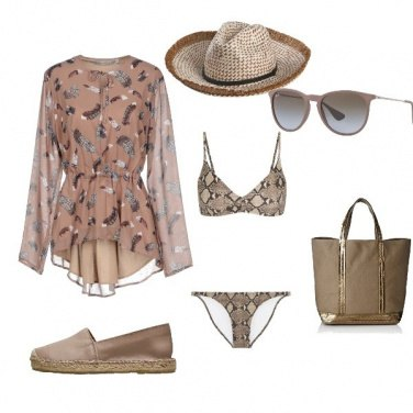 Outfit Beige look marino