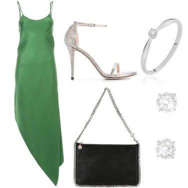 Outfit I sandali argento