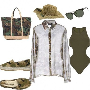 Outfit Navy Seal chic beachwear