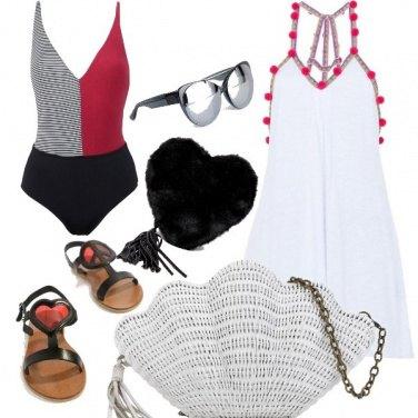 Outfit Cuori in spiaggia
