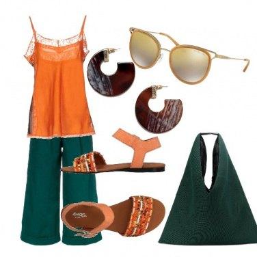 Outfit Verde arancio