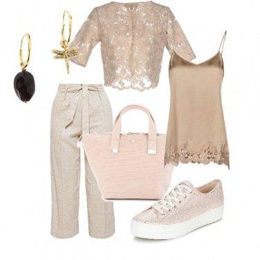 Outfit Riflessi rosa dorati