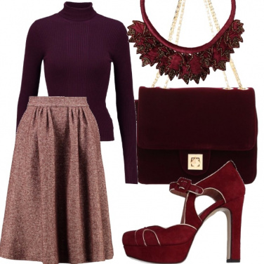 Outfit Foglie rosse