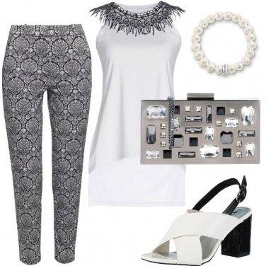 Outfit Un party chic in bianco e nero