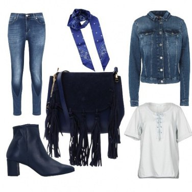 Outfit Rock in blue