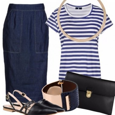 Outfit Blue stripes and jeans