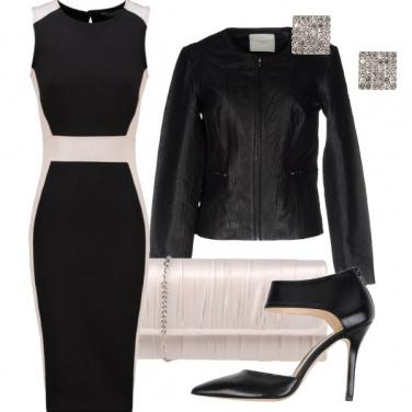 Outfit Tubino con profili in contrasto