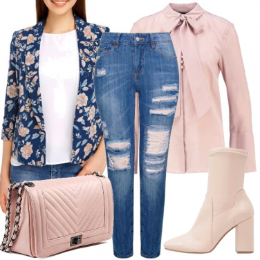 Outfit Il jeans in chiave bon ton