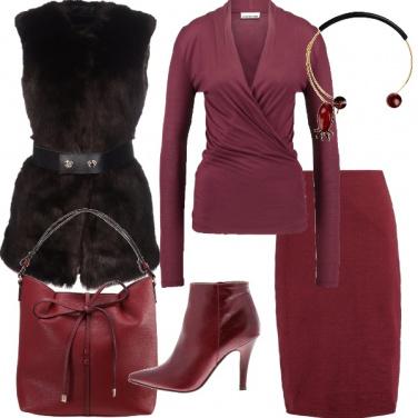 Outfit Rosso di borgogna
