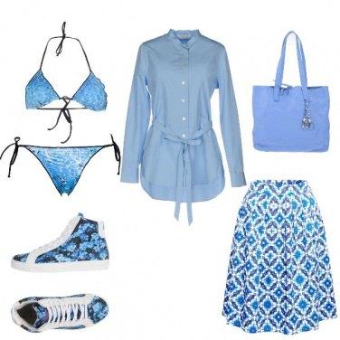 Outfit 4sfumature di blu