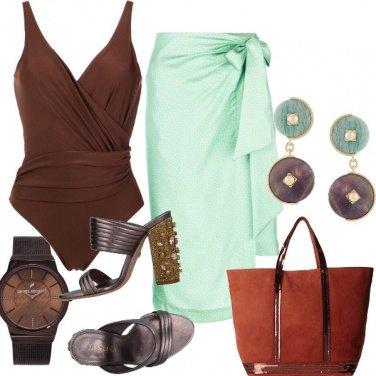 Outfit Cioccolato e menta