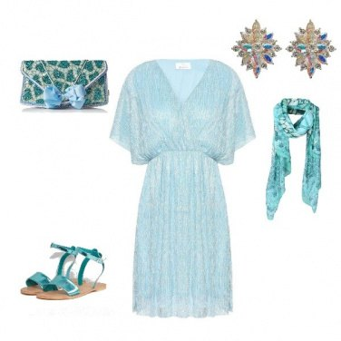 Outfit Verde acqua look