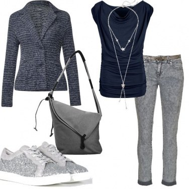 Outfit Mix di casual e formalità