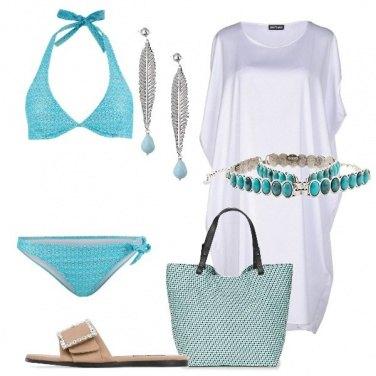 Outfit Deliziosa in spiaggia