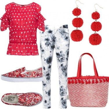 Outfit Happy in red