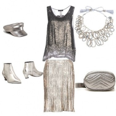 Outfit Disco look grisargent