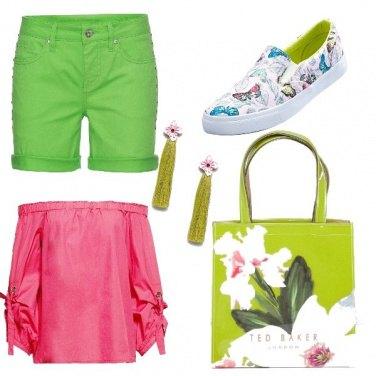 Outfit Blocchi di colore, ispirato ai fiori