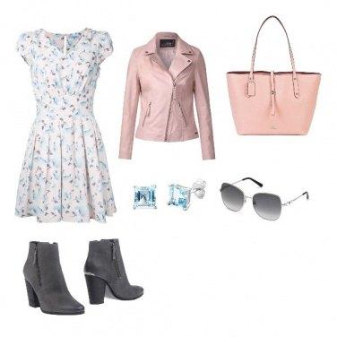 Outfit Abito a fiorellini rock