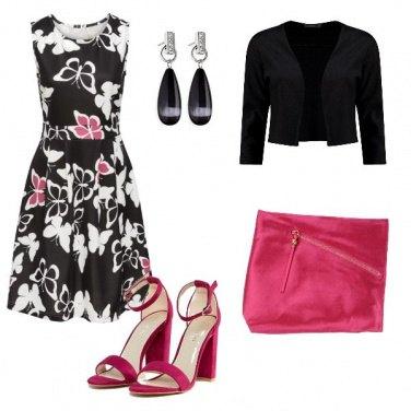 Outfit Elegantissima in rosa e nero