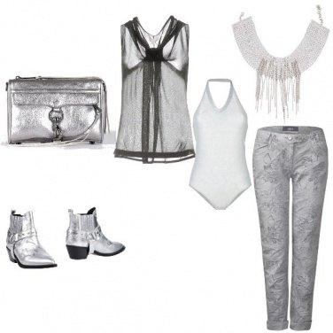 Outfit Disco argento