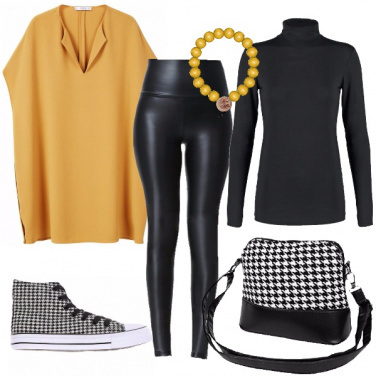 Outfit Pied de poule rock