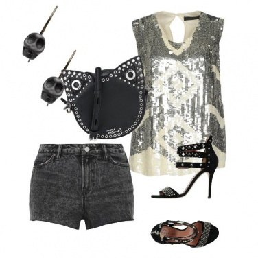 Outfit Rock dolce con Yoox
