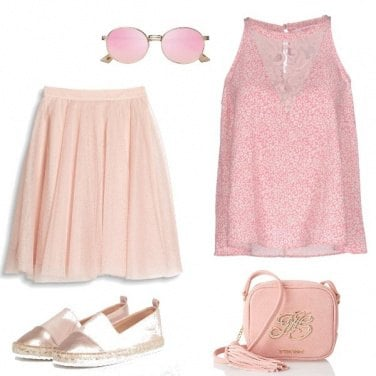 Outfit Total rosa