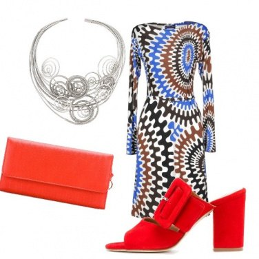 Outfit Geometrie sul vestito