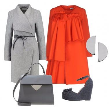 Outfit Abito arancio