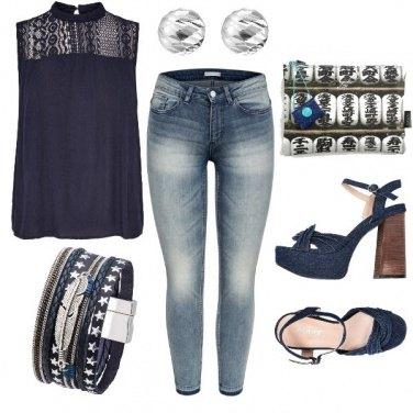 Outfit Viaggio nel Blue