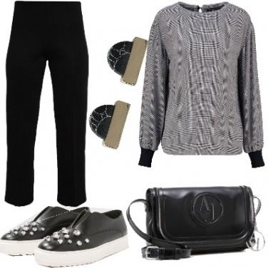 Outfit Bianco e nero basico
