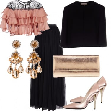 Outfit Gonna in tulle lunga