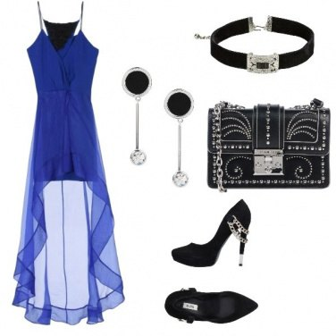 Outfit Ballata in blu-rock