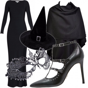 Outfit Total black per halloween