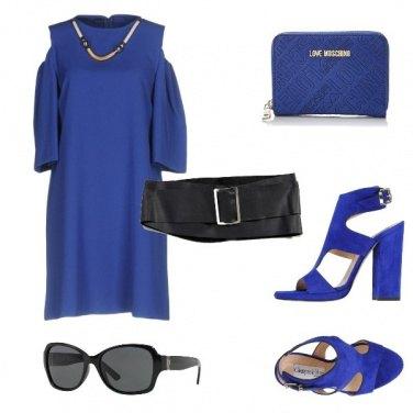 Outfit Matrimonio in Blu Chic