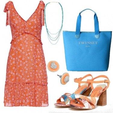 Outfit TSK Arancio e turchese