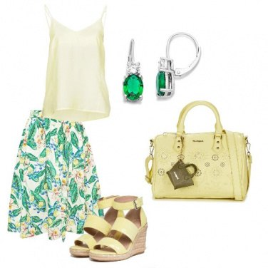 Outfit Giallo glam