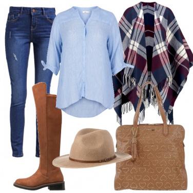 Outfit Moda poncho