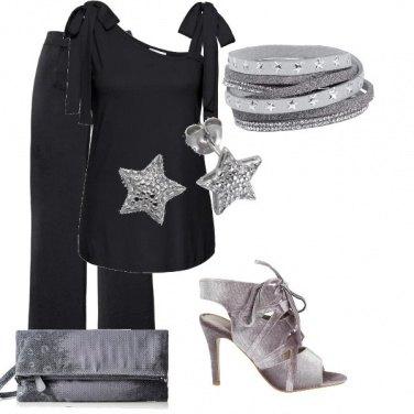 Outfit In nero e grigio