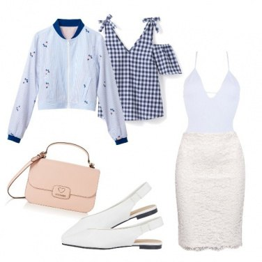 Outfit White & vichy