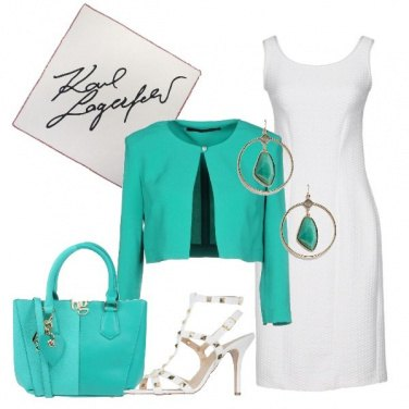 Outfit Chic in bianco e verde