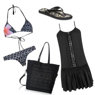 Outfit To the beach in black