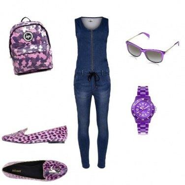 Outfit Apericena maculato viola