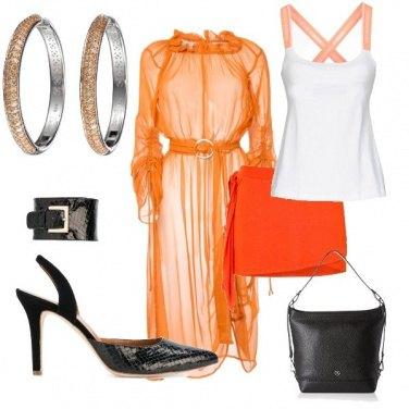 Outfit Sexy in arancio