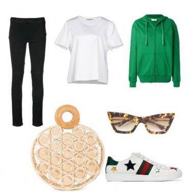 Outfit La felpa verde