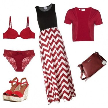 Outfit Tendenze sul rosso