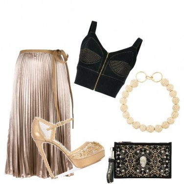 Outfit Gold night....