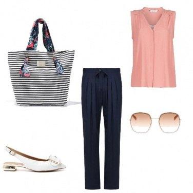 Outfit La borsa a righe
